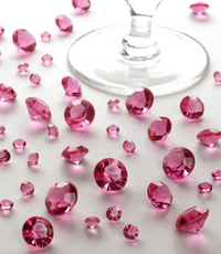 Table Crystals - Hot Pink
