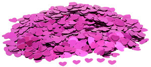 Hot Pink Hearts Table Confetti