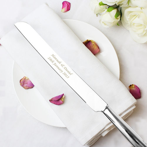 Engraved Cake Knife