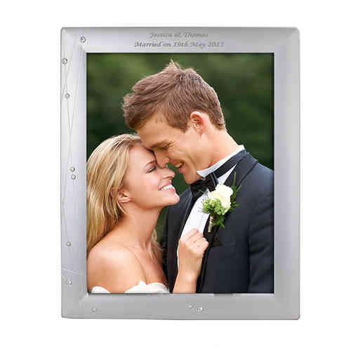 Personalised Diamante Frame - 10x8