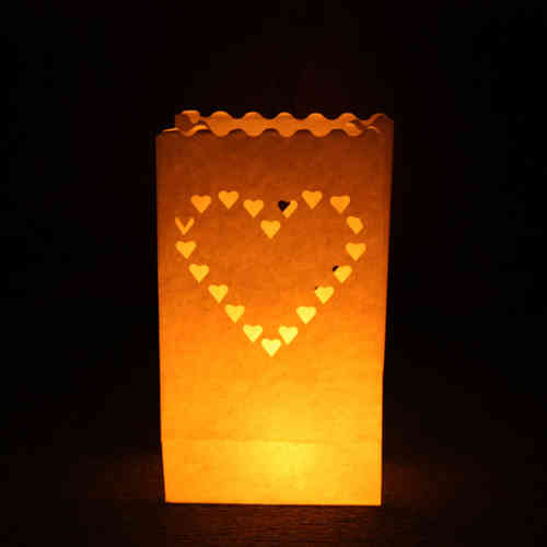 Large Heart Candle Bags