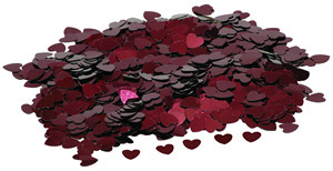 Burgundy Hearts Table Confetti