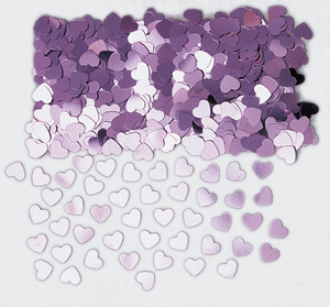 Light Pink Hearts Table Confetti
