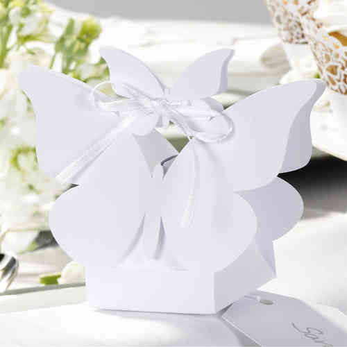 Butterfly Favour Boxes - White