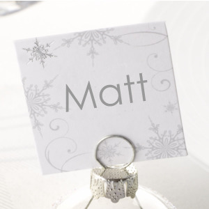 Snowflake Place Cards (For Bauble Holders)