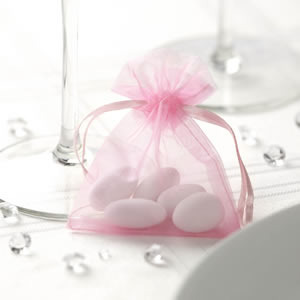 Pink Organza Favour Bags