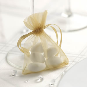 Gold Organza Favour Bags