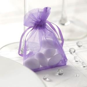 Lilac Organza Favour Bags