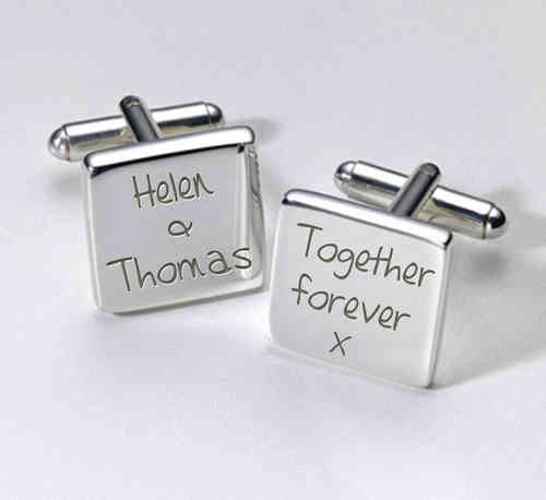 Personalised Wedding Cufflinks - Together Forever