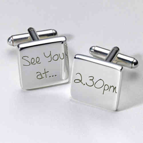 Personalised Wedding Cufflinks - See You At...