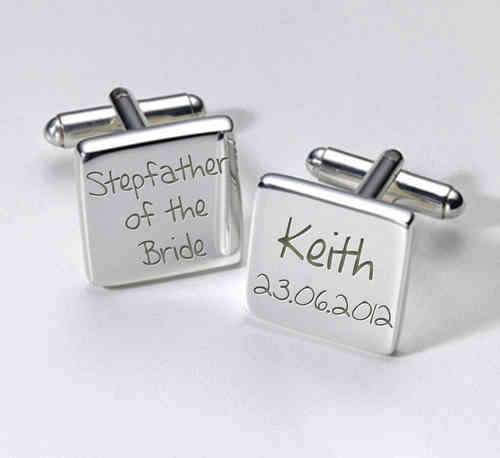Stepfather of the Bride Personalised Cufflinks