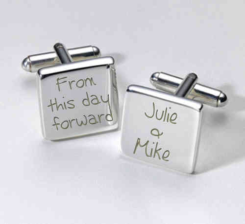 Personalised Wedding Cufflinks - From This Day Forward