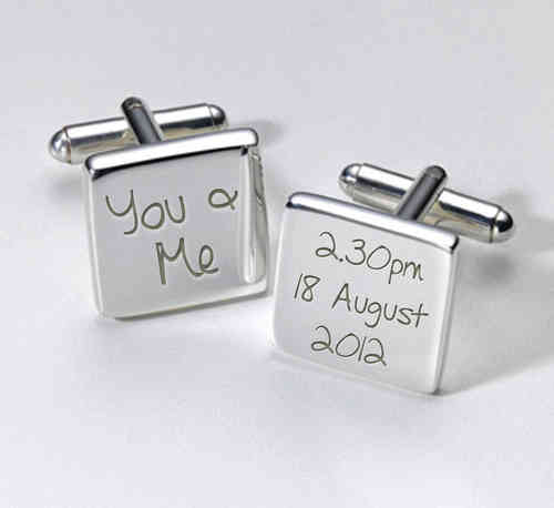 Personalised Wedding Cufflinks - You and Me