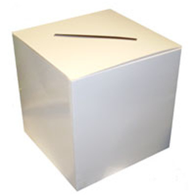 Square White Post Box