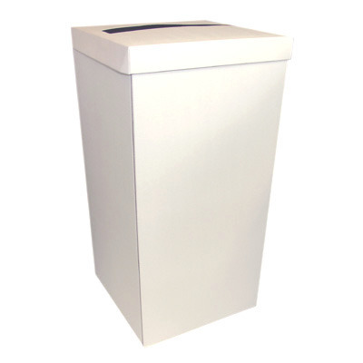 Plain White Tall Post Box