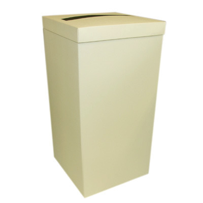 Plain Ivory Tall Post Box