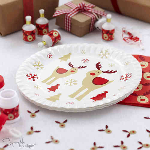 Rocking Rudolph Paper Plates
