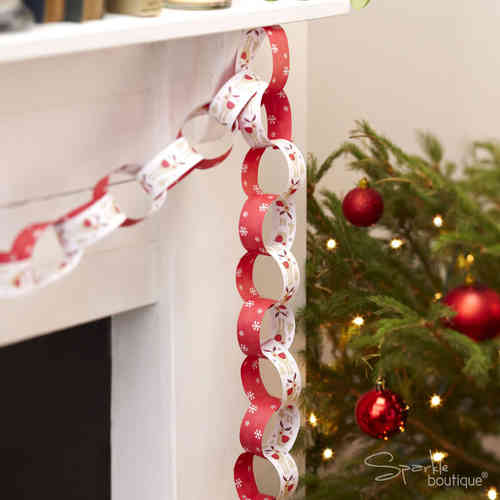 Rocking Rudolph Paper Chain Rings