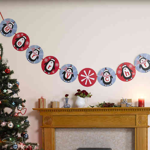 Party Penguin Bunting Banner