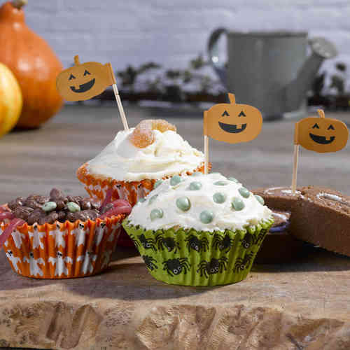 Happy Halloween Cake Cases & Picks