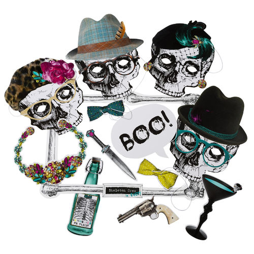 Skeleton Crew Halloween Photo Booth Kit