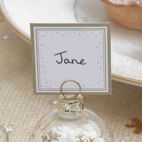 Winter Wonderland Place Cards (For Bauble Holders)