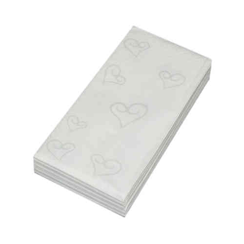 Wedding Tissues - Silver Hearts Design