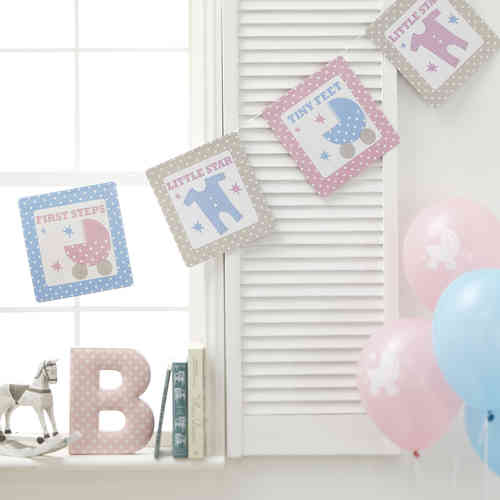 Tiny Feet - Baby Shower Bunting