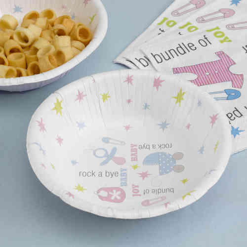 Tiny Feet - Baby Shower Paper Bowls