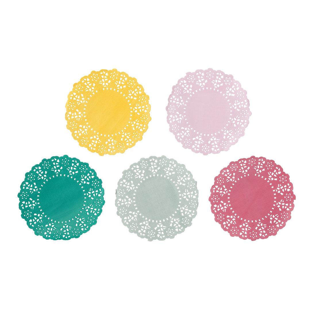 Floral Fiesta Mini Paper Doilies Doyleys
