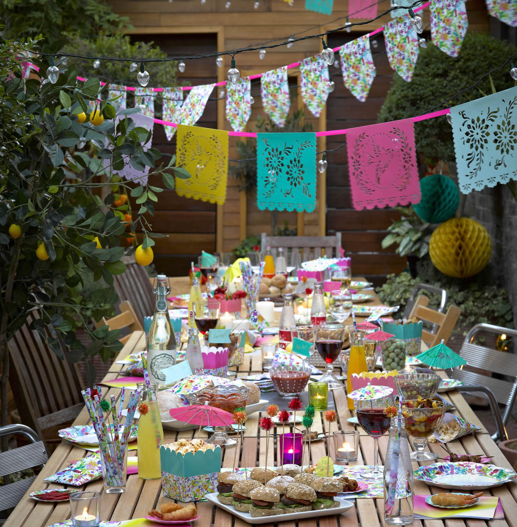 Floral Fiesta - Paper Plates & Fiesta - Paper Plates