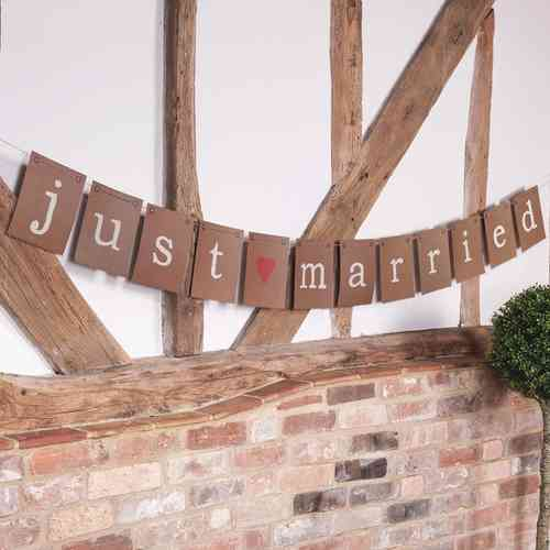 Just My Type - Just Married Bunting