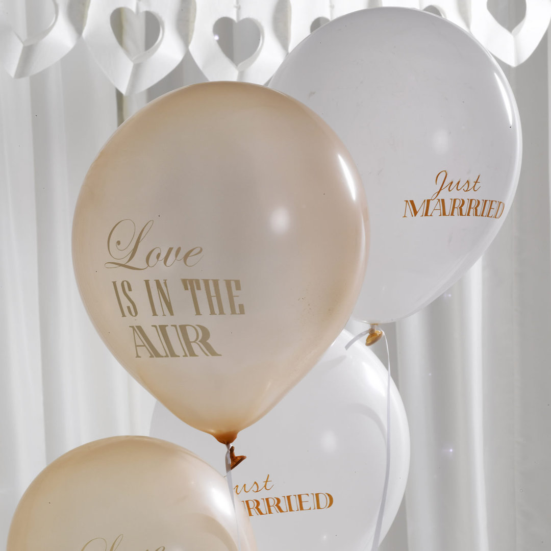 Boutique wedding balloons ivory gold chic boutique wedding balloons ivory gold junglespirit Images