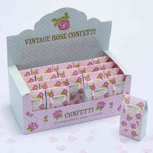 Vintage Rose - Heart Throwing Confetti