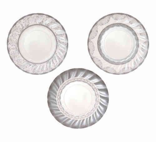 Party Porcelain Silver - Small Paper Plates