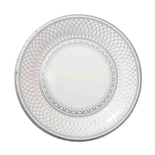 Party Porcelain Silver - Large Paper Plates
