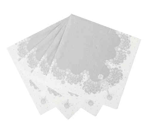 Party Porcelain Silver - Large Paper Napkins