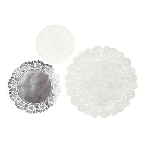 Party Porcelain Silver - Paper Doilies