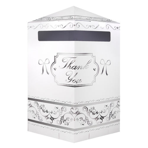 Hexagonal Post Box - 'Thank You'