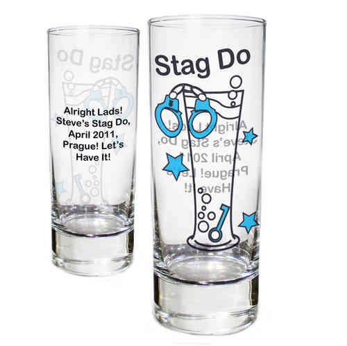 Personalised Stag Night Shot Glass