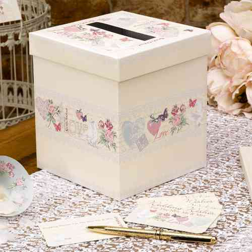 With Love - Wedding Wishes Post Box