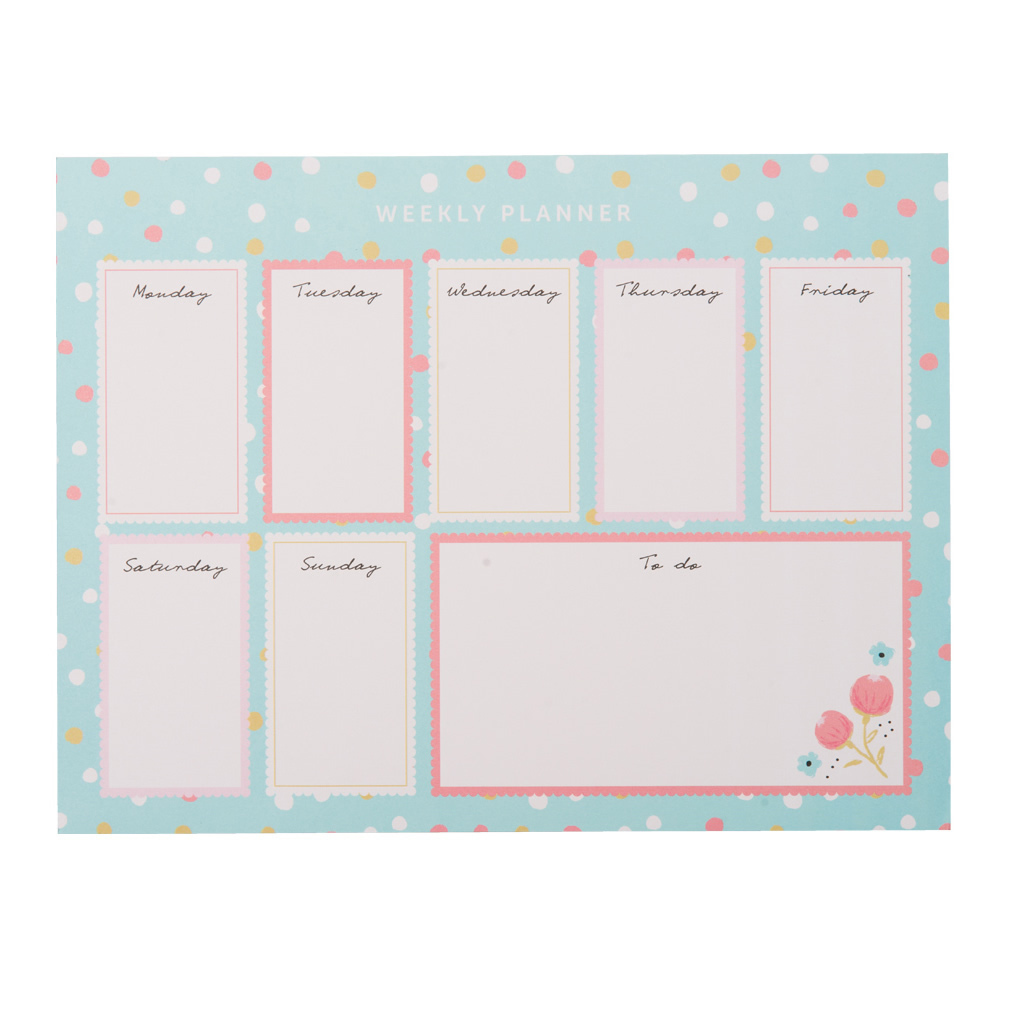 Weekly planner pad magnets for Planner co