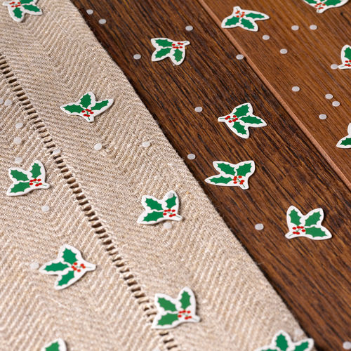 Festive Noel Holly Table Confetti
