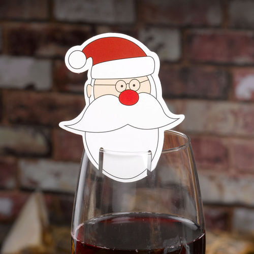 Christmas Craft Santa Glass Decorations