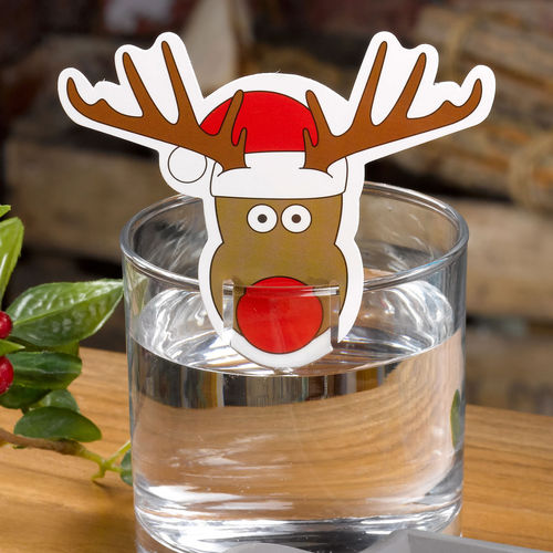 Christmas Craft Rudolph Glass Decorations
