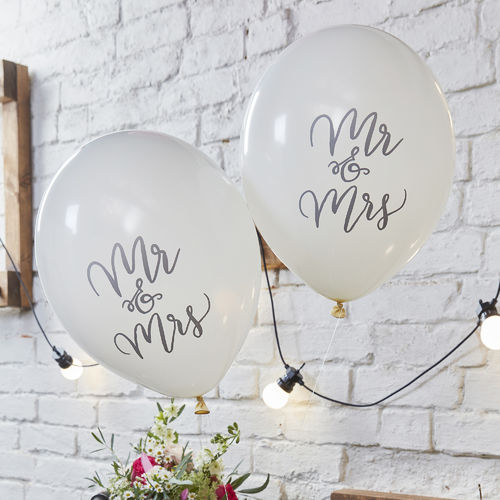 Boho Wedding Balloons - Mr & Mrs