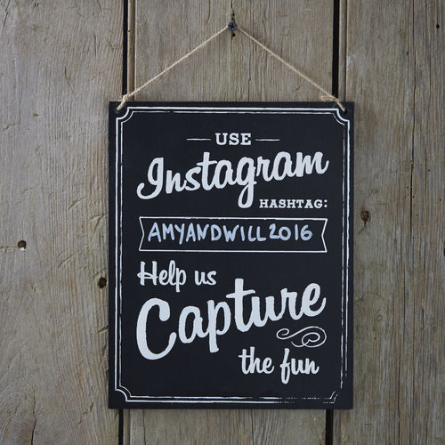 'Use Instagram Hashtag' Chalkboard Sign