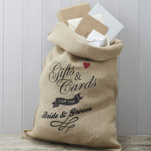 Hessian Wedding Cards Sack