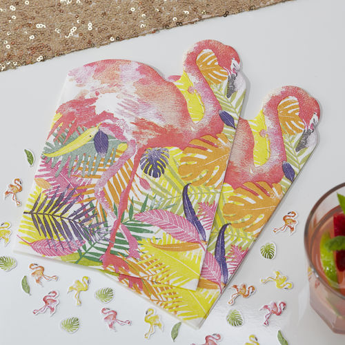 Tropical Flamingo Paper Napkins