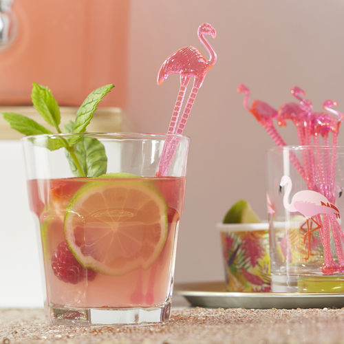 Tropical Flamingo Drink Stirrers